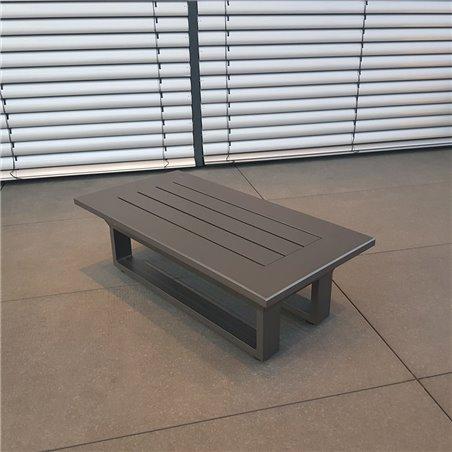 ICM garden lounge Grenoble table basse table d'appoint petite table salon de jardin set module anthracite
