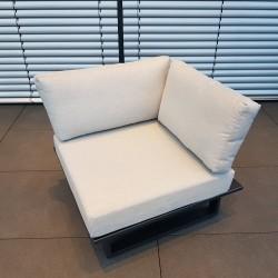Muebles de salón de jardín ICM Cannes aluminio Teca antracita 1 plazas